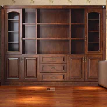 盼盼整木家装书柜-01|盼盼木门