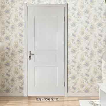 盼盼实木复合免漆门BC01白开放|室内门