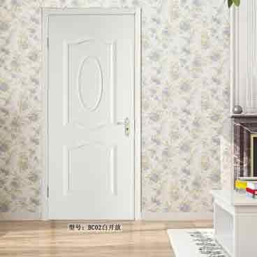 盼盼实木复合免漆门BC02白开放|室内门
