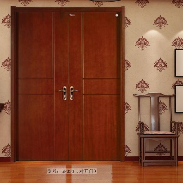 盼盼实木复合门SP033(对开门)|盼盼木门
