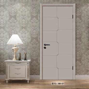 盼盼实木复合烤漆门BB01|室内门