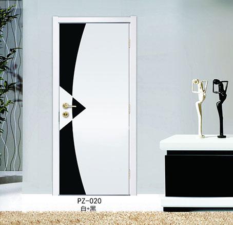 盼盼实木复合烤漆门PZ-020白+黑|室内门