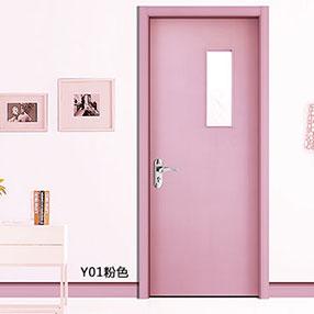 盼盼科技健康门Y01粉色|盼盼木门