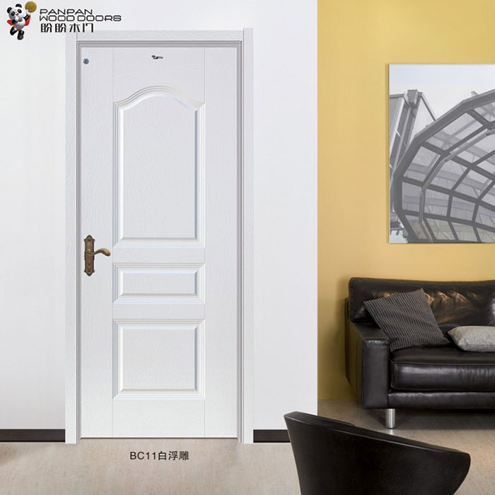 盼盼实木复合免漆门BC11白开放|室内门